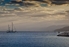 Sunset at the Red Sea, Eilat, Israel Stock Images