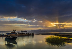 Sunset at the Red sea,Eilat Stock Photography