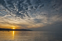 Sunset at the Red sea, Eilat, Israel Royalty Free Stock Images