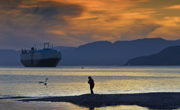 Sunset at the Red sea, Eilat, Israel Royalty Free Stock Photos