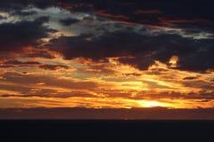 Sunset. Redish sunset at Puerto Piramides, Chubut, Argentina Royalty Free Stock Photography