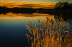 SunSet at Reedy Point Royalty Free Stock Images