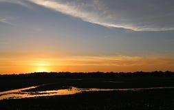 Sunset on Reelfoot Lake stock photos