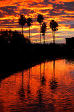Sunset Reflected California Royalty Free Stock Photo