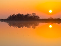 Sunset is reflecting Stock Photo