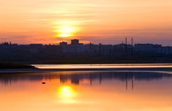 Sunset reflection Royalty Free Stock Images