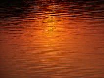 Sunset reflection Stock Image
