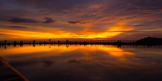 Sunset Reflection  Royalty Free Stock Photography