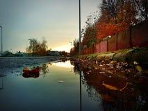 Sunset reflection. Beauty autumn landscape Royalty Free Stock Photo