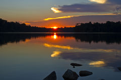 Sunset Reflection on the Lake Royalty Free Stock Photo