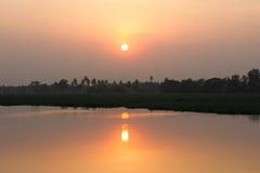 Sunset reflection in lake Stock Image