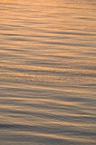 Sunset reflection on sea. Colorful reflection of sunset on rippled surface of sea or ocean Stock Photos