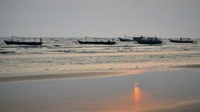 Sunset Reflection. Sun reflection at Lampu satu beach, Merauke, Papua - Indonesia Stock Image