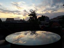 Sunset reflection royalty free stock photography