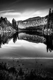 Sunset Reflection Toketee Lake Umpqua River Oregon Royalty Free Stock Images