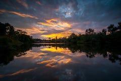 Sunset reflection Stock Photography