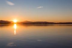 Sunset reflections Royalty Free Stock Photo