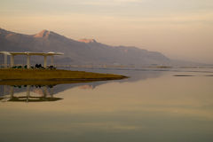 Sunset Reflections on the Dead Sea Stock Photography