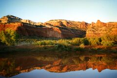 sunset reflections, Sedona Royalty Free Stock Image