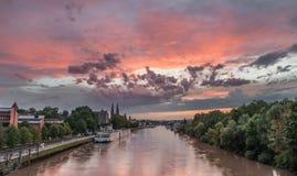 Sunset in Regensburg, Germany Stock Photos