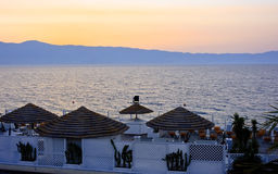 Sunset in Reggio Calabria Royalty Free Stock Image