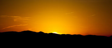 Sunset at region Liptov in Slovakia Royalty Free Stock Photography