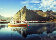 Sunset - Reine, Lofoten islands, Norway Stock Images