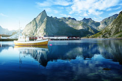 Sunset - Reine, Lofoten islands, Norway Royalty Free Stock Image