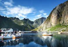 Sunset - Reine, Lofoten islands, Norway Stock Image