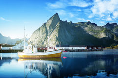 Sunset - Reine, Lofoten islands, Norway Royalty Free Stock Images