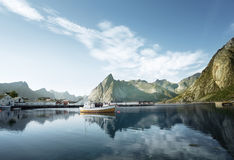 Sunset - Reine, Lofoten islands, Norway Royalty Free Stock Photo