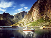 Sunset - Reine, Lofoten islands, Norway Royalty Free Stock Photos