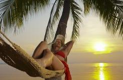 Sunset relaxation Royalty Free Stock Image