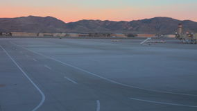 Sunset at the Reno airport stock footage
