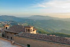 Sunset in Republic San Marino. Stock Images