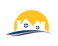 Sunset Residential icon royalty free illustration
