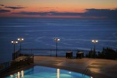 Sunset in the resort Stock Photo