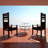 Sunset restaurant Royalty Free Stock Images