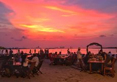 Sunset in resto. Sky full collor Royalty Free Stock Image