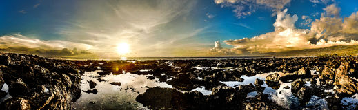 Sunset Reunion Island Royalty Free Stock Images