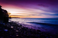 Sunset Reverie In Marmara Sea Royalty Free Stock Images