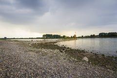 Sunset on rhine river Royalty Free Stock Image