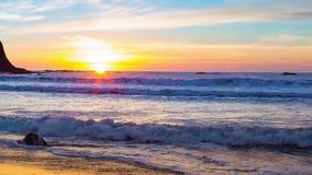 Sunset on Rialto Beach stock video