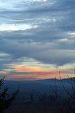 Sunset From A Ridge Royalty Free Stock Photography