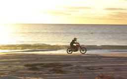 Sunset Riding Stock Photo