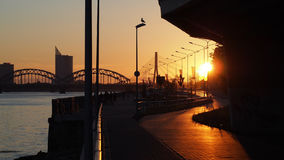 Sunset and City Royalty Free Stock Photography