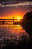 Sunset. In Riga, Latvia, summer 2016 Stock Photography