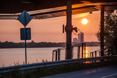 Sunset. In Riga, Latvia, summer 2016 Royalty Free Stock Photo