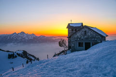Sunset at Rigi-Kulm, Switzerland Stock Image