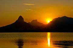 Sunset in Rio de Janeiro Royalty Free Stock Photography